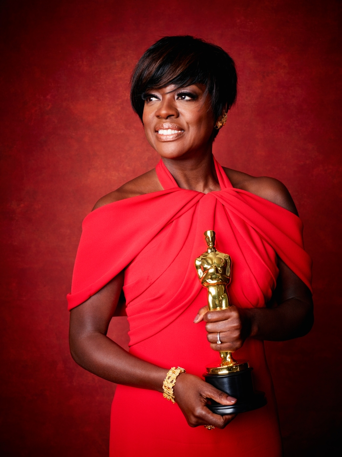 "Viola Davis poses backstage with the Oscar® for Performance by an actress in a supporting role, for work on ""Fences"" during the live ABC Telecast of The 89th Oscars® at the Dolby® Theatre in Hollywood, CA on Sunday, February 26, 2016."