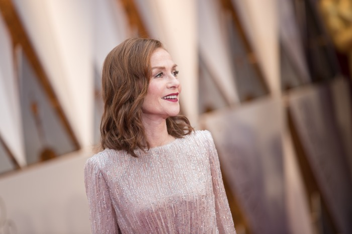 Oscar® Nominee, Isabelle Huppert, arrives on the red carpet of The 89th Oscars® at the Dolby® Theatre in Hollywood, CA on Sunday, February 26, 2017.